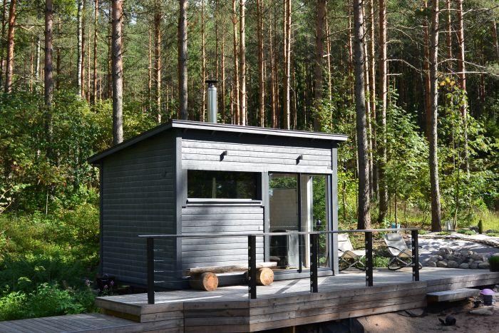 Huone1 Moderni Sauna ja huone SH120 12 m2 kuva päädystä
