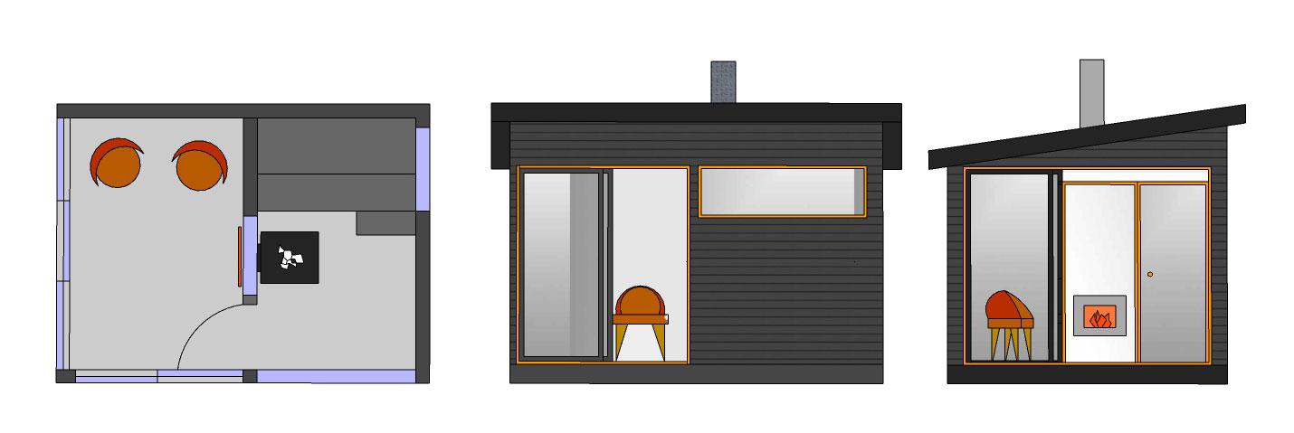 Sauna ja huone SH120 B