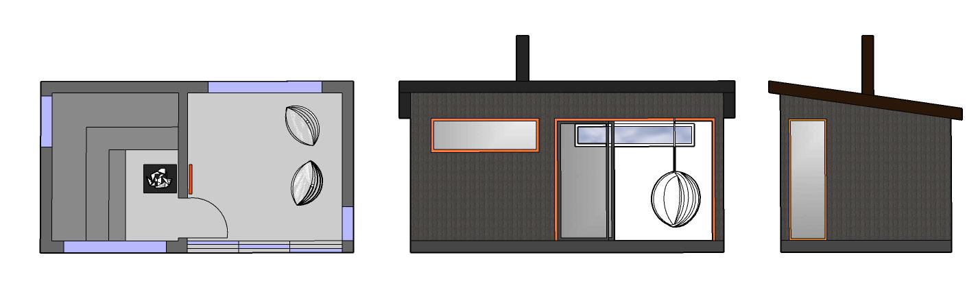 Sauna ja huone SH165 A