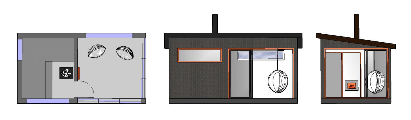 Sauna ja huone SH165 B