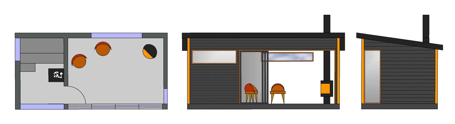 Sauna ja huone SH180 A