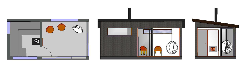 Sauna ja huone SH180 B