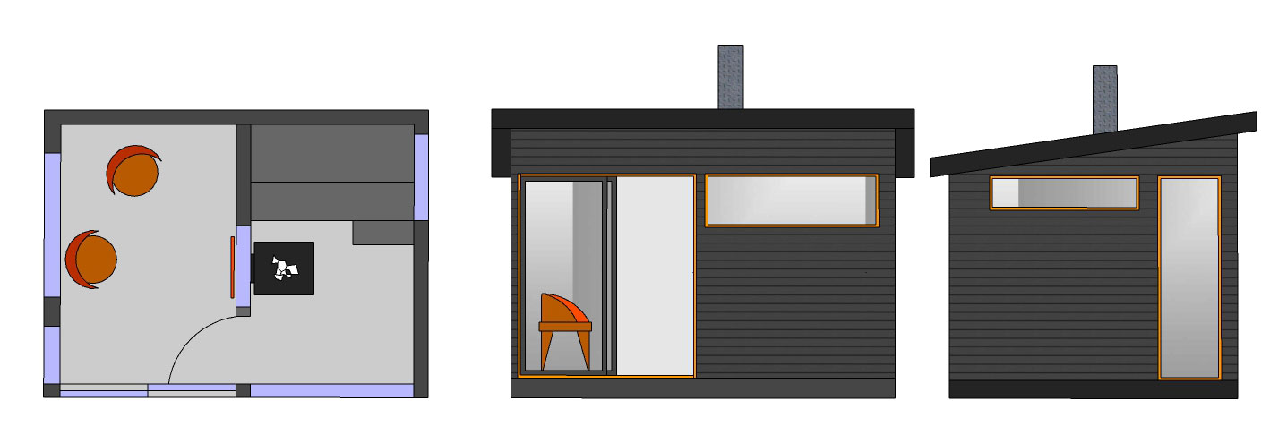 Sauna + huonen SH120 A