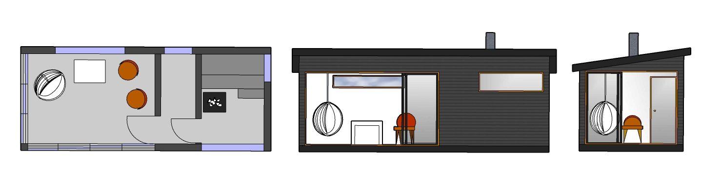 Huone1 pihasauna, pukuhuone ja oleskelutila SPH216 b