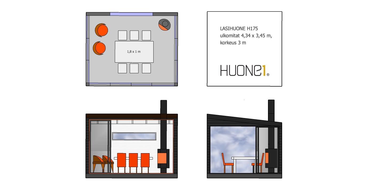 Huone1 suosittu moderni design Kesähuone