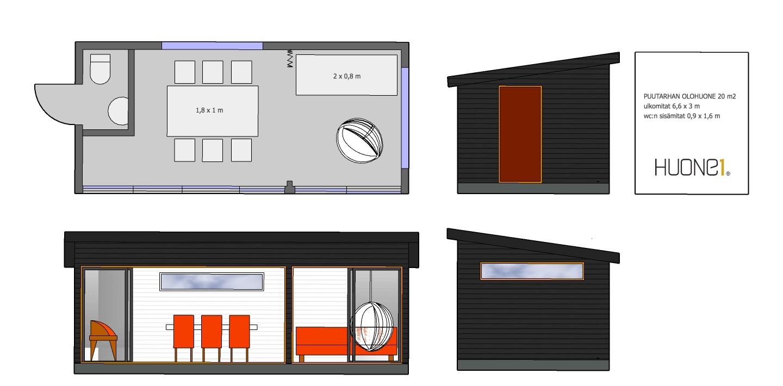 Huone1 moderni monikäyttöinen elämystilaratkaisu